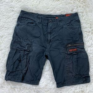 CRG super dry black cargo shorts 34